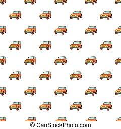 jeep, style, dessin animé, modèle