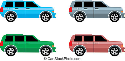 Jeep - Vector illustration, color full