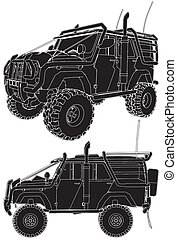 jeep, voiture, offroad