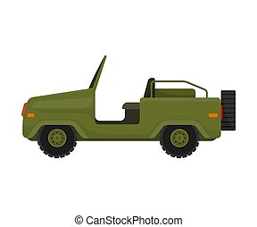 Jeep without a roof. Vector illustration on a white background.