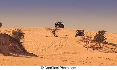 Jeeps Do Sand Drag Racing in White Sand Dunes - jeeps do...