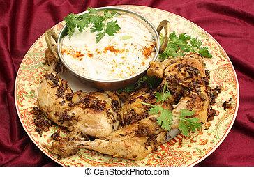 Jeera chicken high angle - Homemade fried jeera (cumin) ...