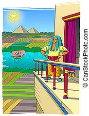 jefe, designado, egipto, faraón, joseph