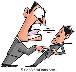 Palabras encadenadas - Página 5 Jefe-estridente-el-suyo-empleado-stock-de-ilustraci%C3%B3n_csp7551046