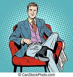 jefe, hombre de negocios, director