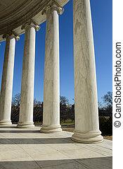 jefferson 記念館, 中に, washington d.c.