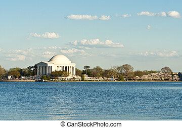 jefferson 記念館, 潮 洗面器, ワシントン, dc, アメリカ