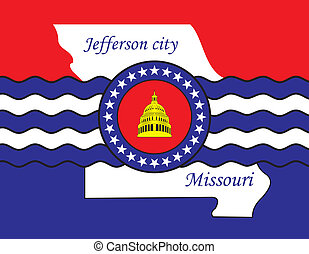 Jefferson city coa - Various vector flags, state symbols,...