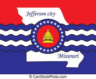 Jefferson city coa - Various vector flags, state symbols,...