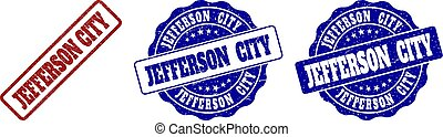 JEFFERSON CITY Grunge Stamp Seals - JEFFERSON CITY grunge...