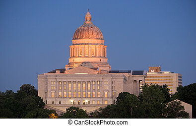 Jefferson City Missouri Capital Building Downtown City Skyline