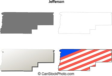 Jefferson County, Oregon outline map set - Jefferson County,...