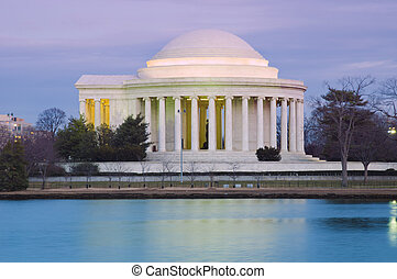 Jefferson Memorial at Sunset, Washington DC, USA