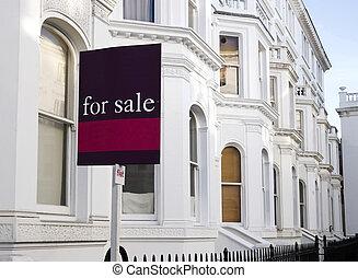 jeg terraced hus, til salg, hos, west-london.