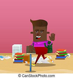 jego, święty, book., ręka, inny, kłaść, wychowywanie, uczeń