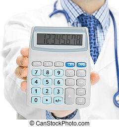 jego, stosunek, doktor, kalkulator, -, holdling, 1, ręka