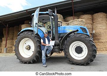 jego, traktor, rolnik