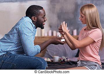 jego, udzielanie, afrykanin, ślub, sympatia, niniejszy, człowiek
