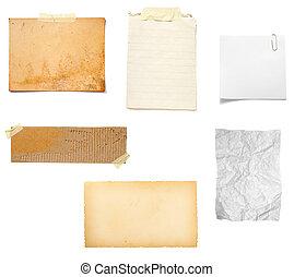 jegyzet, barna papír, öreg, háttér