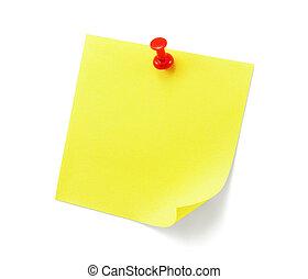 jegyzet, fehér, árnyék, sárga, nyúlós