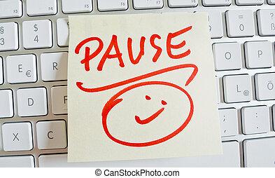jegyzet, képben látható, számítógép, keyboard:, megszakítás