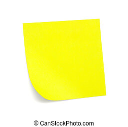 jegyzet, sárga, árnyék, nyúlós