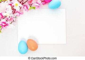 jegyzet, themed, húsvét, tiszta