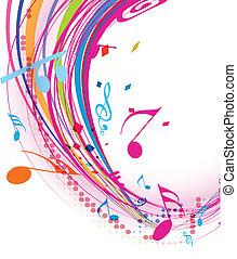 jegyzet, zene, háttér