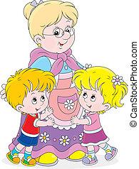 jej, wnuki, babunia