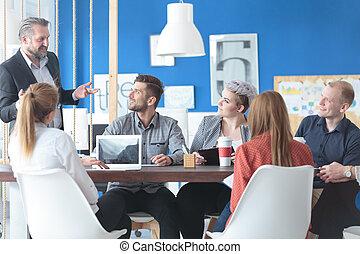 jejich, správce, employees, naslouchání poslech