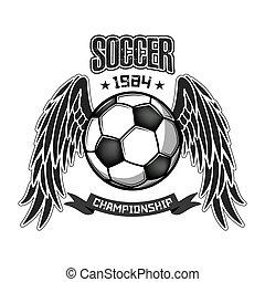 jel, futball, tervezés, sablon
