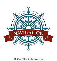 jel, hajó, kormánykerék