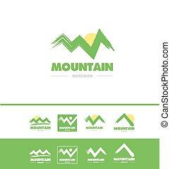 jel, hegy, grunge, ikon