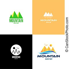 jel, hegy, idegenforgalom, ikon