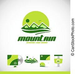 jel, hegy, tervezés, csúcs, ikon
