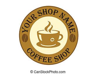jel, kávécserje, aláír, bolt