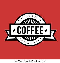 jel, kávécserje, aláír, vagy, szüret