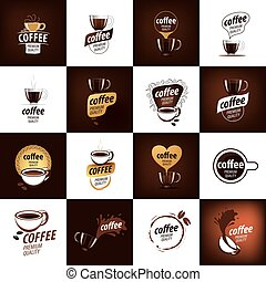 jel, kávécserje, vektor