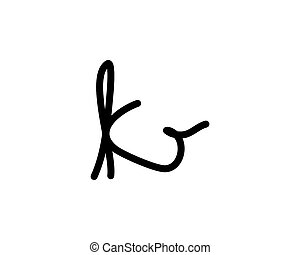 jel, k, levél, aláírás