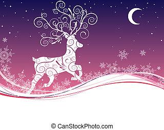 jelen, vánoce
