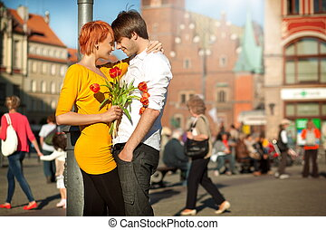 jelentékeny, párosít, szerelemben, randi