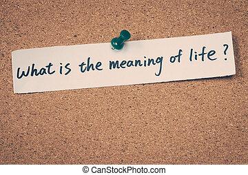 jelentés, mi, élet
