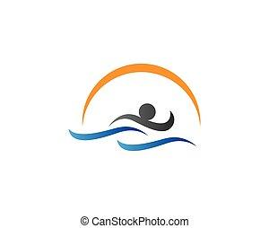 jelkép, ábra, úszás
