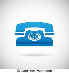 jelkép, ábra, telefon, vektor, hívás, sablon, tervezés, ikon