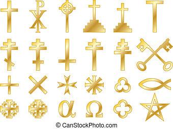 jelkép, arany-, keresztény, vallásos