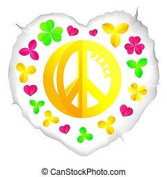 jelkép, béke, hippi