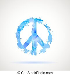 jelkép., béke, hippi