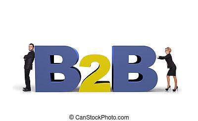 jelkép, b2b