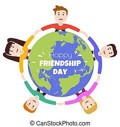 jelkép, barátság, barátok, nap