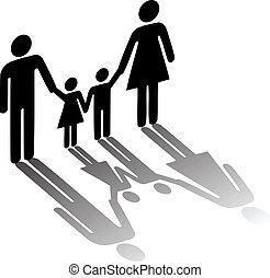 jelkép, család